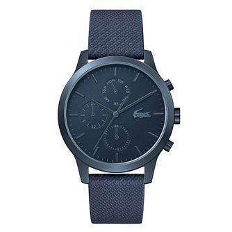 Lacoste 12.12 Men's Navy Silicone Strap Watch - Product number 3276430
