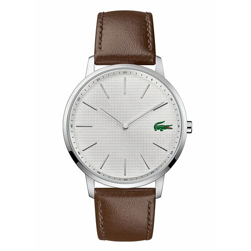 Lacoste Moon Men's Brown Leather Strap Watch - Product number 3276449