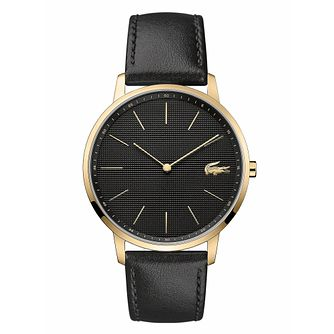 Lacoste Moon Men's Black Leather Strap Watch - Product number 3276457
