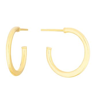 9ct Yellow Gold Tapered 15Mm Hoop Earrings - Product number 3276562