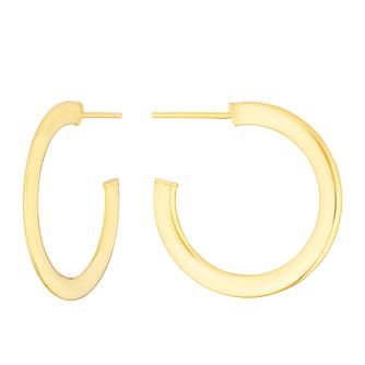 9ct Yellow Gold Tapered 20mm Hoop Earrings - Product number 3276600