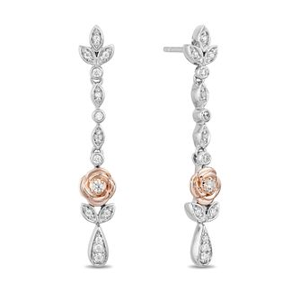 Enchanted Disney Fine Jewelry Diamond Belle Drop Earrings - Product number 3277755