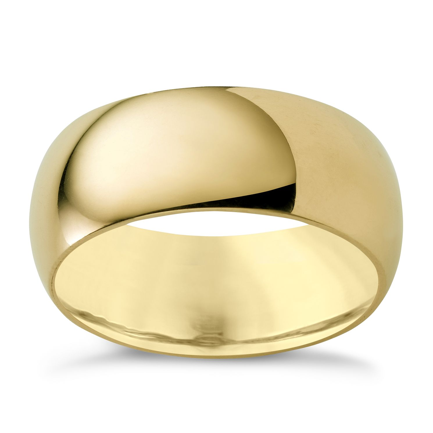 9ct Yellow Gold 8mm Super Heavyweight Court Ring - Product number 3285588