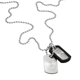 Diesel Men's Stainless Steel & PU Dog Tag Necklace  - Product number 3285715