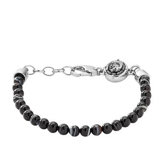 Diesel Men's Black Bead Bracelet - Product number 3285812