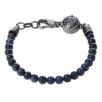Diesel Men's Blue Sodalite & Stainless Steel Bead Bracelet - Product number 3285820