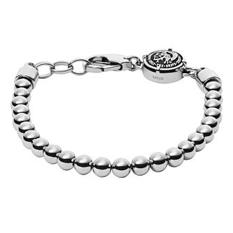 Diesel Rock Biker Men's Stainless Steel Bead Bracelet - Product number 3285839