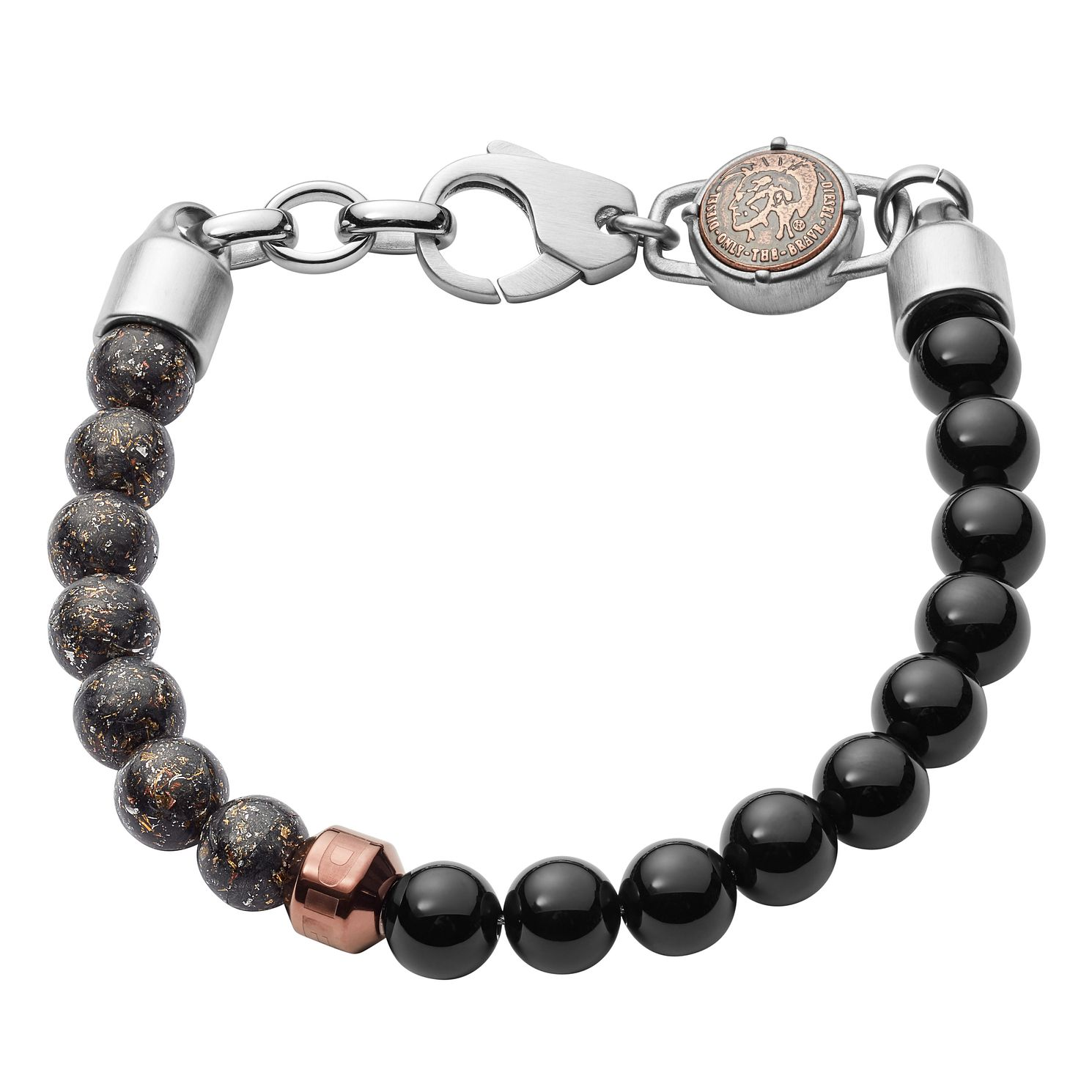 Diesel Men's Black Agate & Stainless Steel Bracelet - Product number 3286185