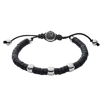 Diesel Men's Black Agate & Stainless Steel Bead Bracelet - Product number 3286258