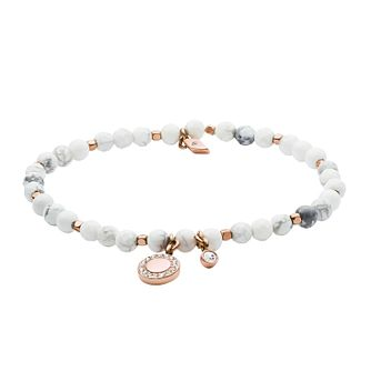 Fossil Ladies' Howlite White Wellness Bracelet - Product number 3286290