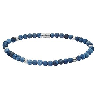 Fossil Men's Blue Sodalite Wellness Bracelet - Product number 3286401