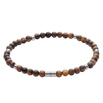Fossil Men's Tiger's Eye Wellness Bracelet - Product number 3286428