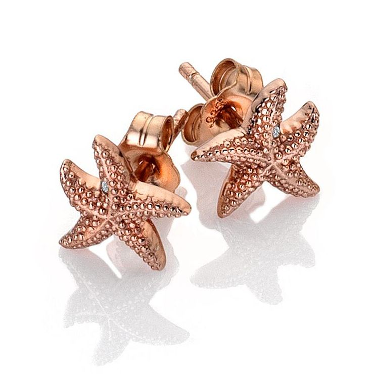 Hot Diamonds Guiding Light Rose Gold Tone Starfish Earrings - Product number 3289605