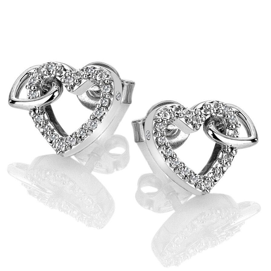 Hot Diamonds Togetherness Silver Topaz Hearts Stud Earrings - Product number 3289745
