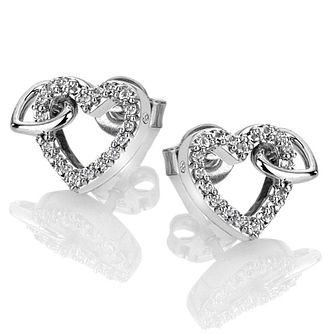 bea2bdc93 Hot Diamonds Togetherness Silver Topaz Hearts Stud Earrings - Product number  3289745