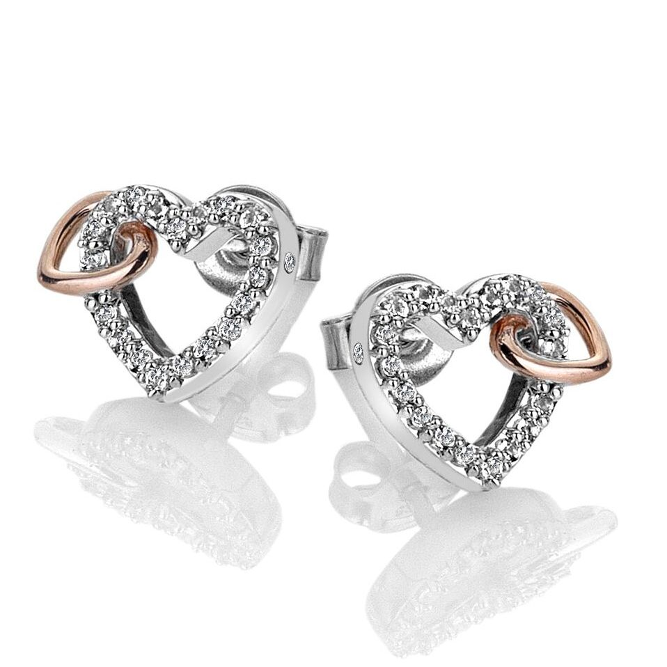 Hot Diamonds Togetherness Two Tone Topaz Hearts Earrings - Product number 3289761