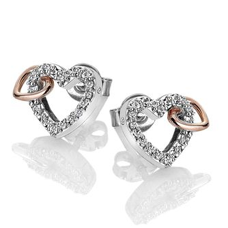 4ad0c0848e9e Hot Diamonds Togetherness Two Tone Topaz Hearts Earrings - Product number  3289761