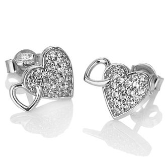 27ec3cdff3eb Hot Diamonds Togetherness Silver Topaz Hearts Stud Earrings - Product number  3289818
