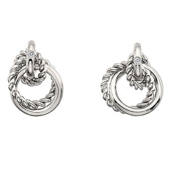0228dd8cf Hot Diamonds Hoops Silver Round Stud Earrings - Product number 3289826