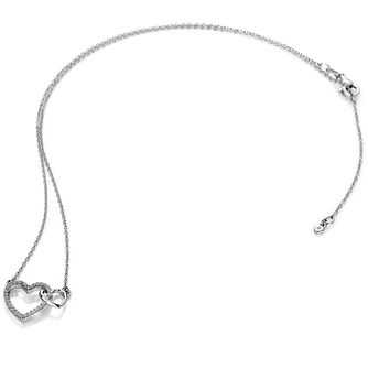 Hot Diamonds Togetherness Silver Topaz Hearts Necklace - Product number 3289877