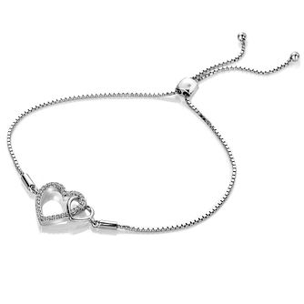 Hot Diamonds Togetherness Silver Topaz Hearts Bracelet - Product number 3289982