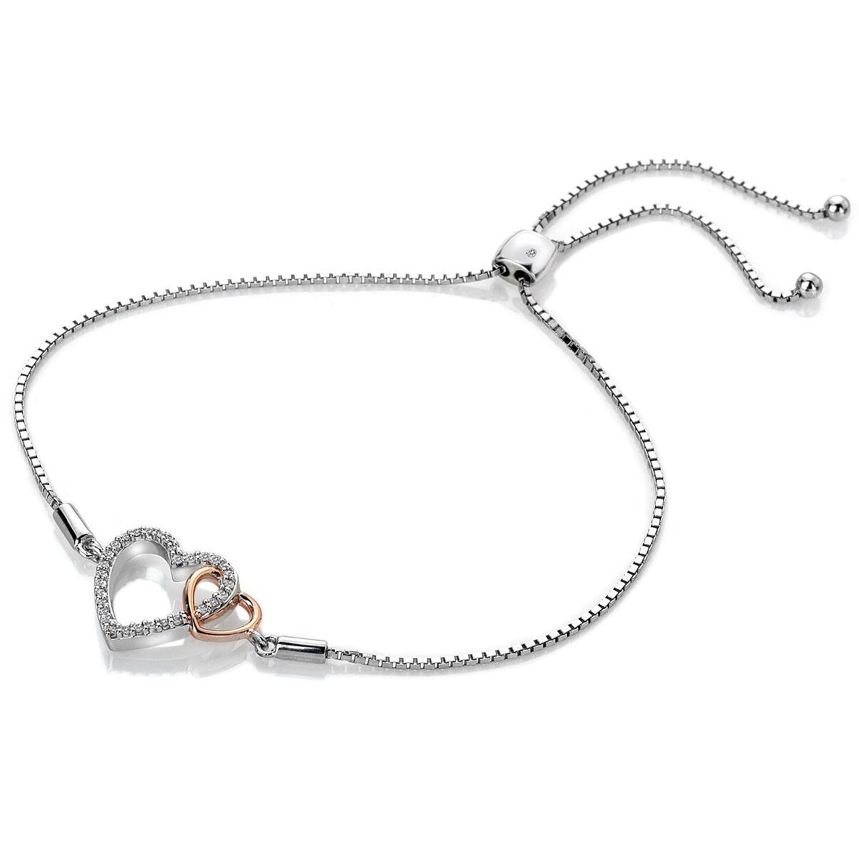 Hot Diamonds Togetherness Two Tone Topaz Hearts Bracelet - Product number 3289990