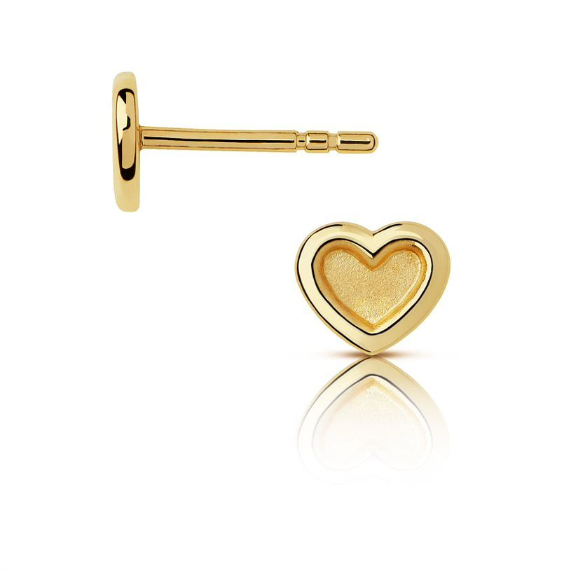 Links Of London Endless Hearts Gold Tone Stud Earrings - Product number 3290115