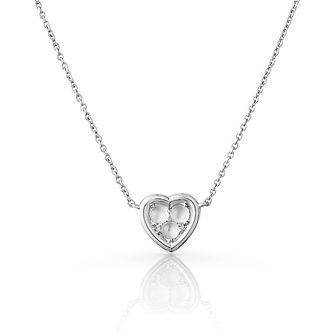 Links Of London Open Heart Silver Moonstone Necklace - Product number 3290204