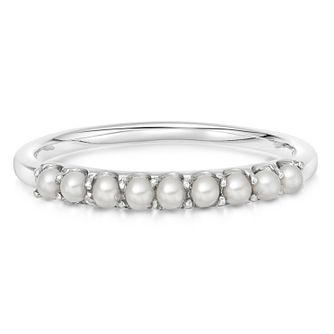 Links Of London Pearl Linear Silver Ring - Size N - Product number 3290328