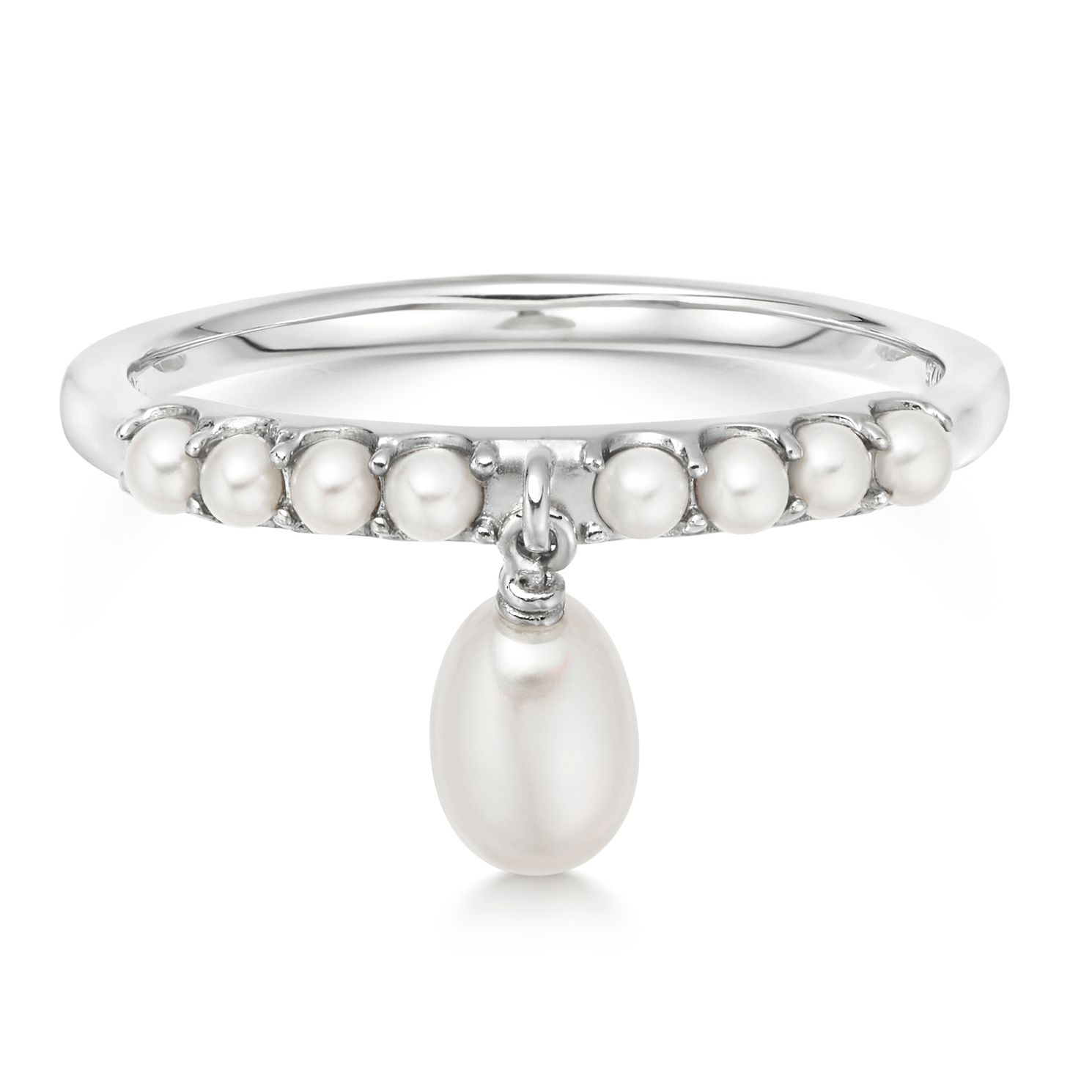 Links Of London Pearl Linear Drop Silver Ring - Size N - Product number 3290344