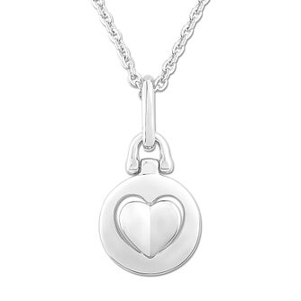 Signature Heart Silver Raised Heart Pendant - Product number 3292096