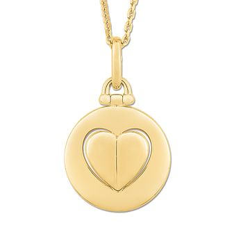 Signature Heart 9ct Yellow Gold Raised Heart Pendant - Product number 3292118