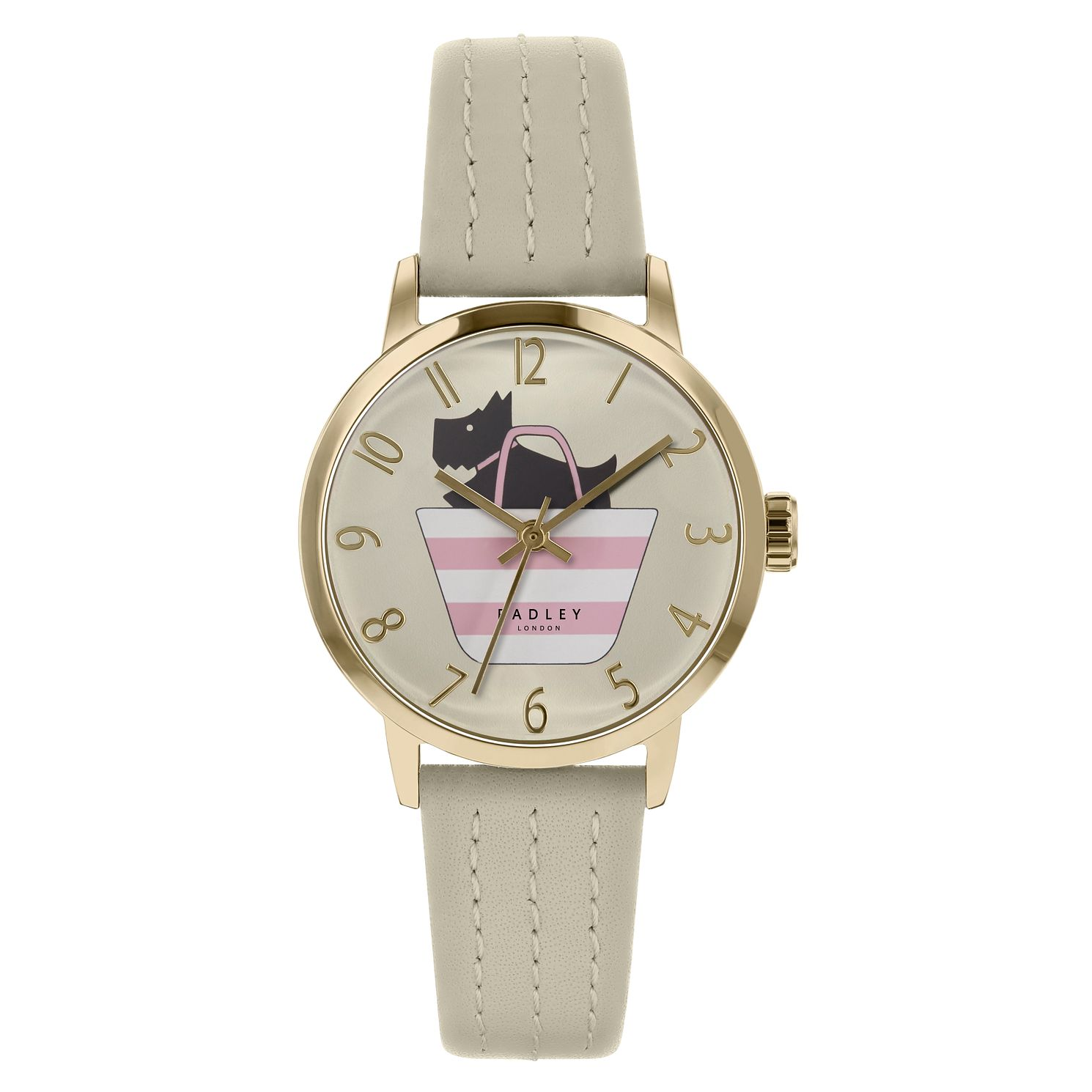 Radley Dog In A Bag Ladies' Beige Leather Strap Watch - Product number 3296822