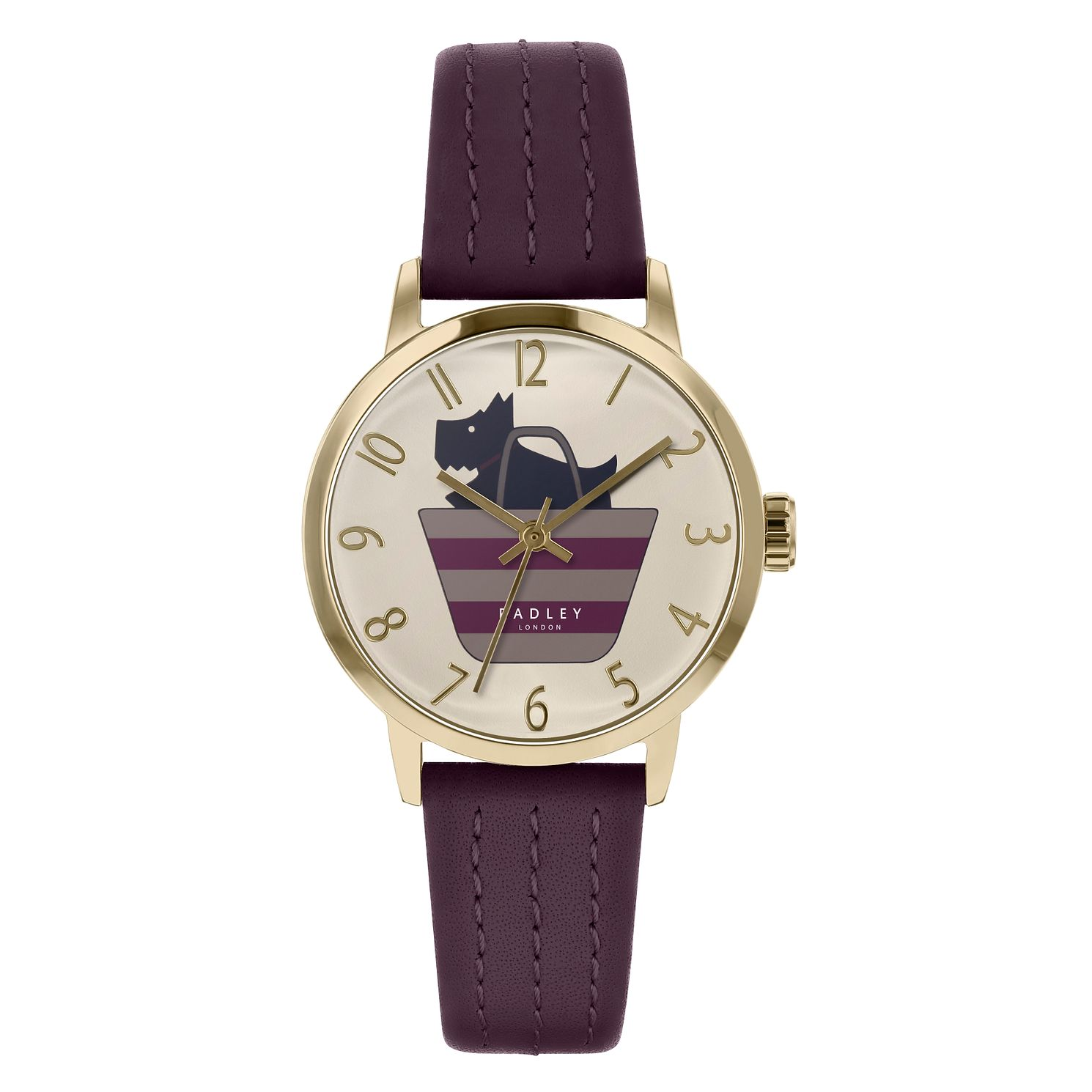 Radley Dog In A Bag Ladies' Purple Leather Strap Watch - Product number 3296830