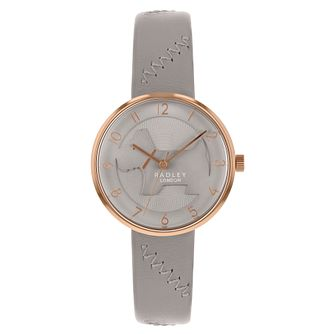 Radley  3D Dog Ladies' Grey Leather Strap Watch - Product number 3296849