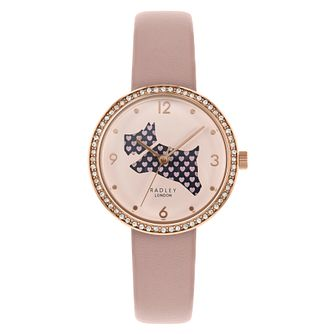 Radley The Great Outfoors Ladies' Pink Leather Strap Watch - Product number 3297128