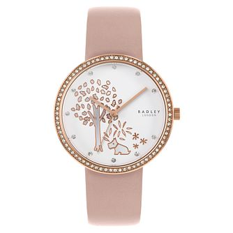Radley Epping Forest Ladies' Pink Leather Strap Watch - Product number 3297144