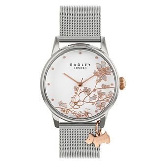 Radley Trailing Flower Ladies' Stainless Steel Mesh Bracelet - Product number 3297160
