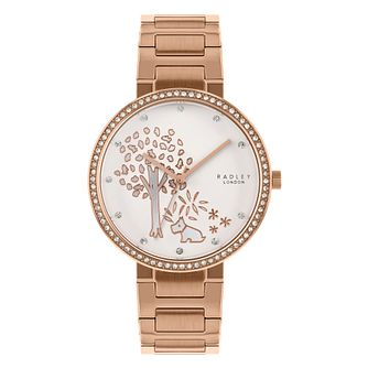Radley Epping Forest Ladies' Rose Gold Plated Bracelet Watch - Product number 3297195
