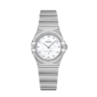 Omega Constellation Ladies Steel Diamond Bracelet Watch - Product number 3306992