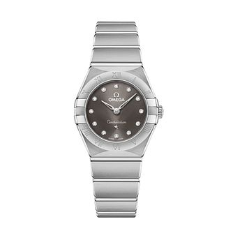 Omega Constellation Ladies Steel Diamond Bracelet Watch - Product number 3307131