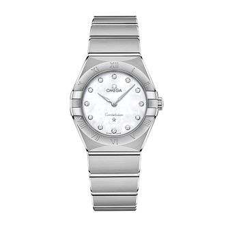 Omega Constellation Ladies Steel Diamond Bracelet Watch - Product number 3307174