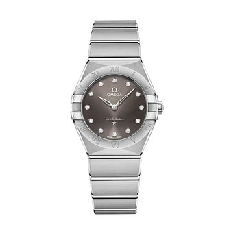 Omega Constellation Ladies Steel Diamond Bracelet Watch - Product number 3307182