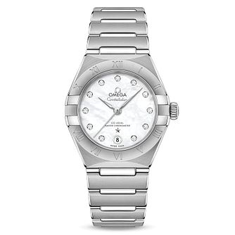 Omega Constellation Ladies Steel Diamond Bracelet Watch - Product number 3307271