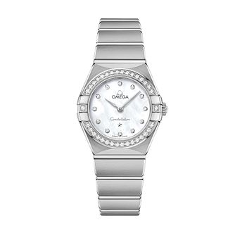 Omega Constellation Ladies Steel Diamond Bracelet Watch - Product number 3307301