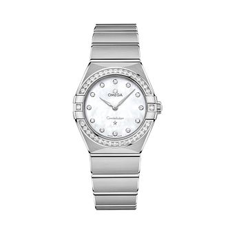 Omega Constellation Ladies Steel Diamond Bracelet Watch - Product number 3307336