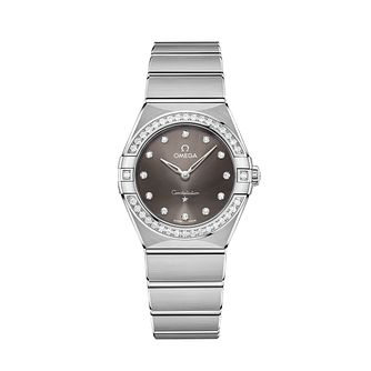 Omega Constellation Ladies Steel Diamond Bracelet Watch - Product number 3307344