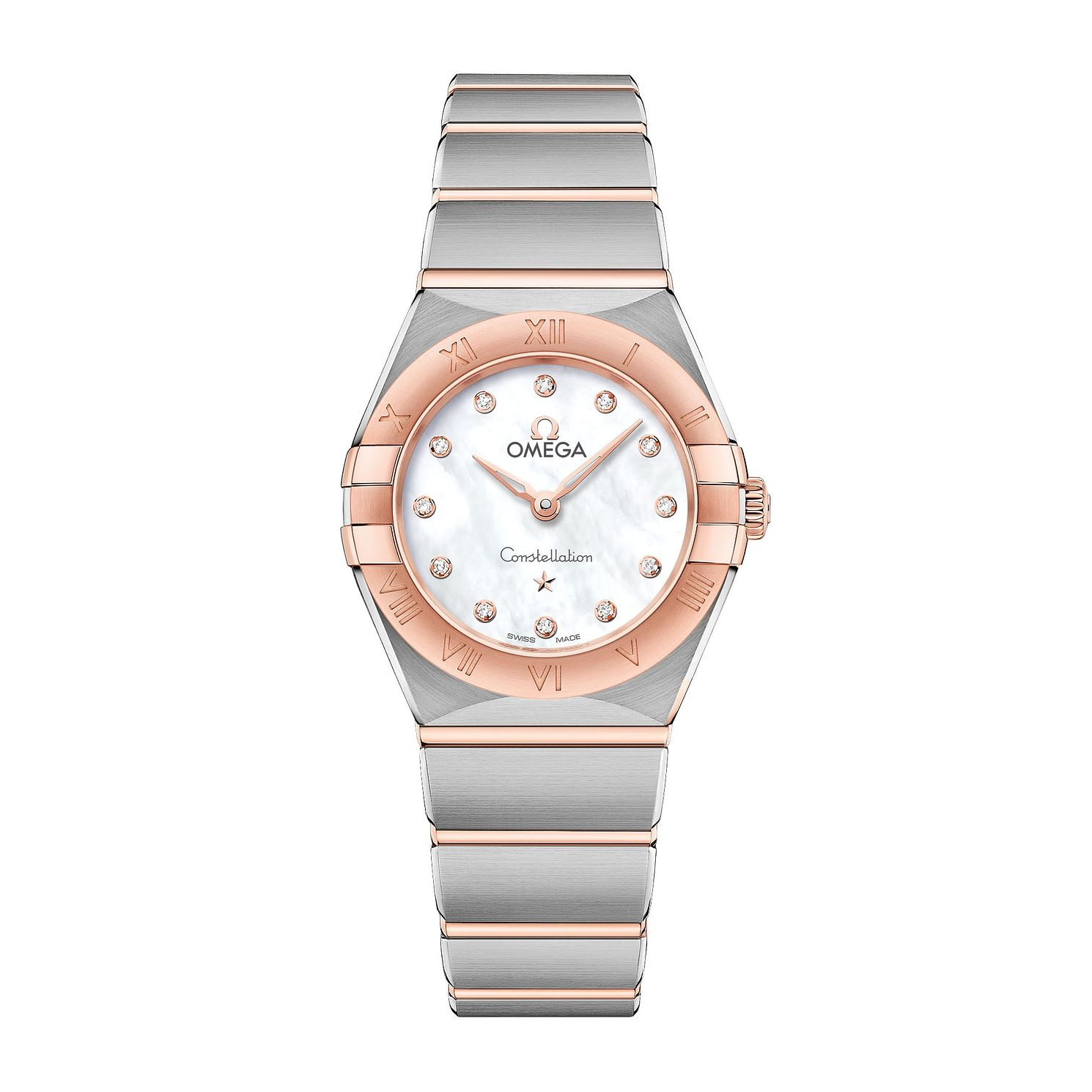 Omega Constellation Ladies Two Colour Diamond Bracelet Watch - Product number 3307425