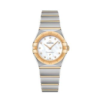 Omega Constellation Ladies Two Colour Diamond Bracelet Watch - Product number 3307506