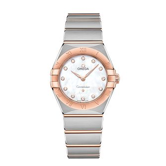 Omega Constellation Ladies Two Colour Diamond Bracelet Watch - Product number 3307573